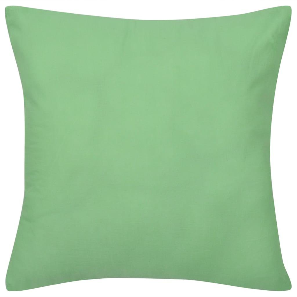4 jablkově zelené povlaky na polštářky bavlna 80 x 80 cm