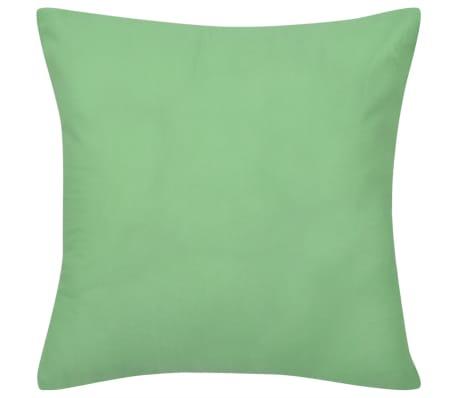 Huse de pernă din bumbac, 80 x 80 cm, verde măr, 4 buc.[2/3]