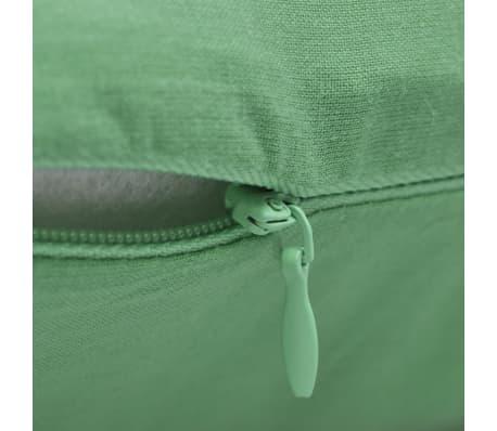 4 fundas verde manzana para cojines de algodón, 80 x 80 cm[3/3]