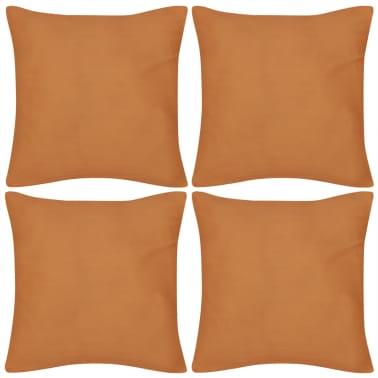 4 orange kissenbez ge baumwolle 50 x 50 cm zum schn ppchenpreis. Black Bedroom Furniture Sets. Home Design Ideas