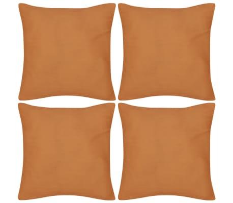 set 4 federe in cotone arancione 50 x 50 cm. Black Bedroom Furniture Sets. Home Design Ideas