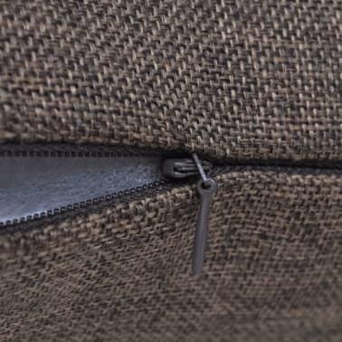 4 fundas marrones para cojines de imitaci n de lino 40 x 40 cm - Cojines marrones ...