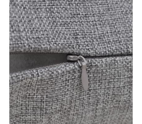4 kissenbez ge anthrazit leinenoptik 40 x 40 cm g nstig kaufen. Black Bedroom Furniture Sets. Home Design Ideas