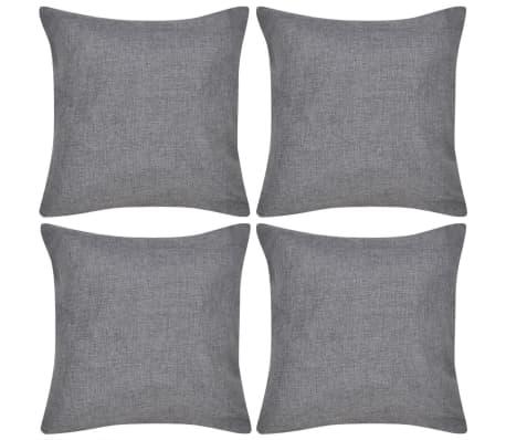 4 Antracit Jastučnice Linen-look 50 x 50 cm[1/3]