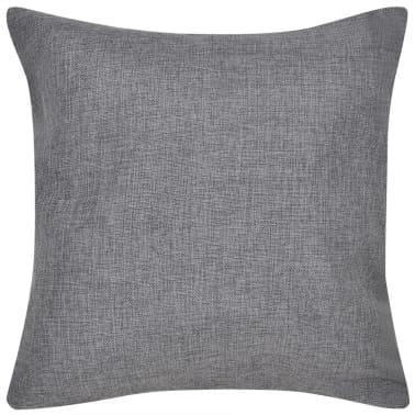 4 Antracit Jastučnice Linen-look 50 x 50 cm[2/3]