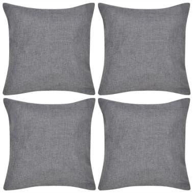 4 Antracit Jastučnice Linen-look 80 x 80 cm[1/3]