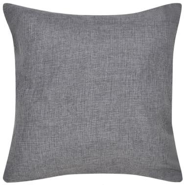 4 Antracit Jastučnice Linen-look 80 x 80 cm[2/3]