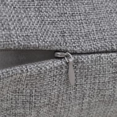 4 Antracit Jastučnice Linen-look 80 x 80 cm[3/3]