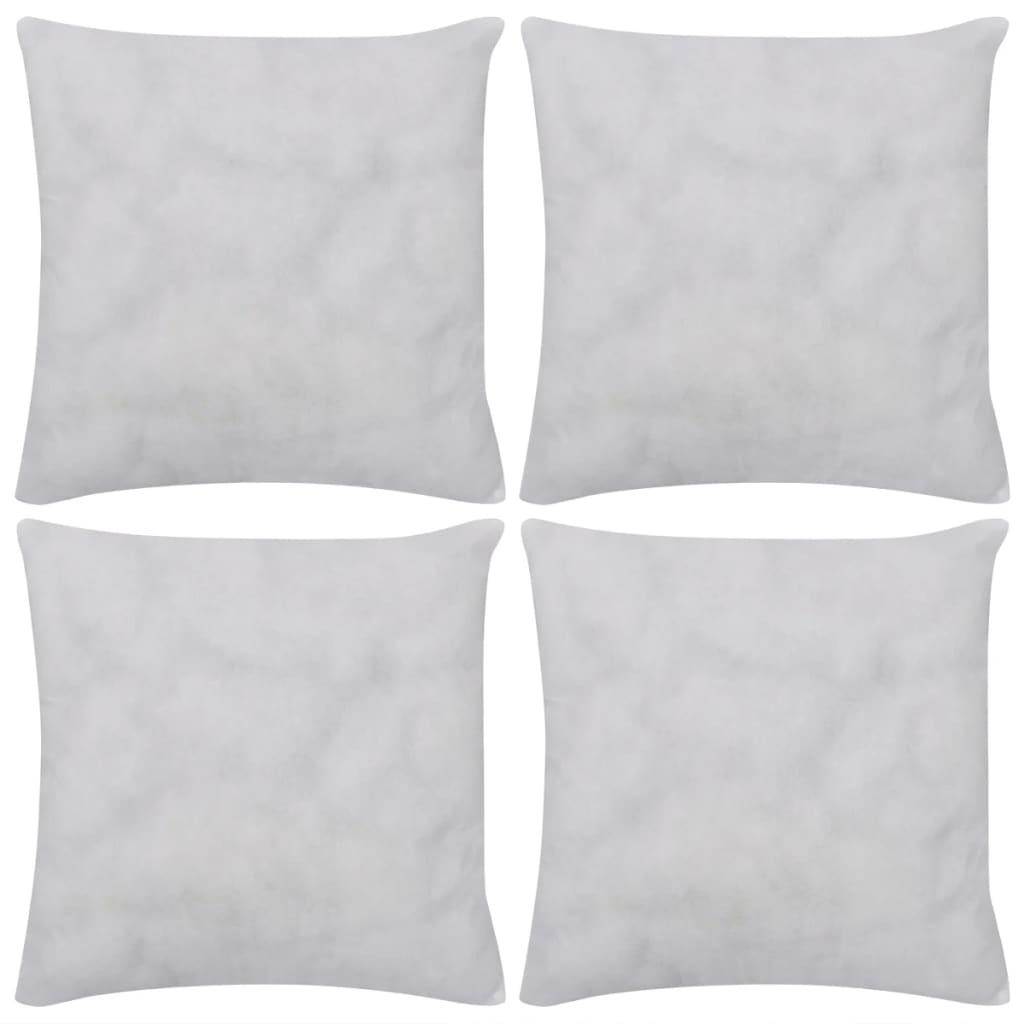 vidaXL Vnitřní polštářky 4 ks bílé 40x40 cm