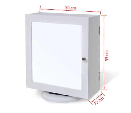 vidaXL Mirrored Jewelry/Storage Cabinet White MDF[8/8]