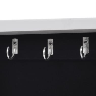 vidaXL Mirrored Jewelry/Storage Cabinet White MDF[7/8]