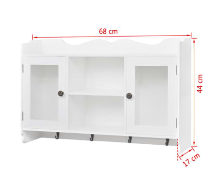 acheter vitrine murale avec tag re de livre dvd verre en mdf blanc pas cher. Black Bedroom Furniture Sets. Home Design Ideas