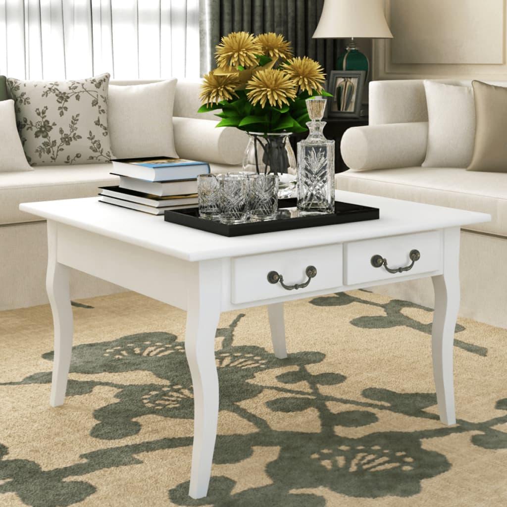 vidaXL Konferenční stolek Acate bílý