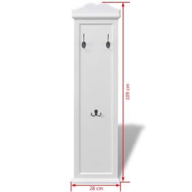 vidaXL Coat Racks 2 pcs White[7/7]
