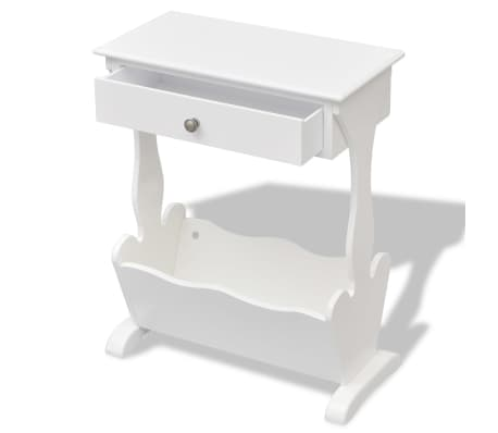 vidaXL Magazine Rack Melrose White