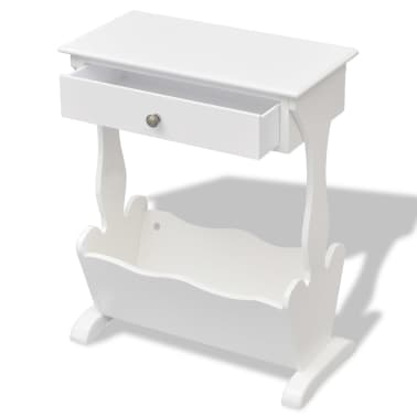 vidaXL Magazine Rack White[2/6]
