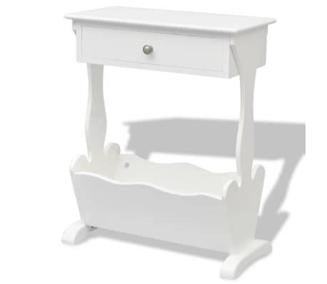 vidaXL Magazine Rack White[3/6]