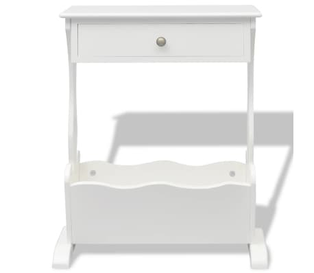 vidaXL Magazine Rack White[4/6]