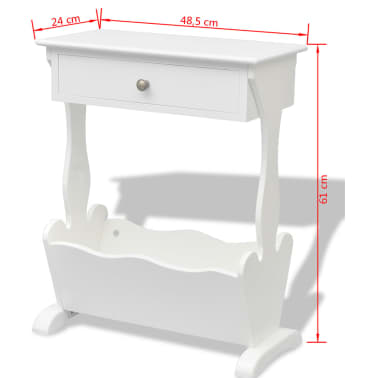 vidaXL Magazine Rack White[6/6]