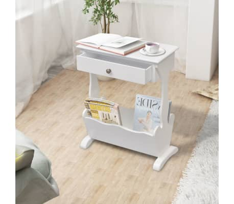 vidaXL Magazine Rack White[1/6]