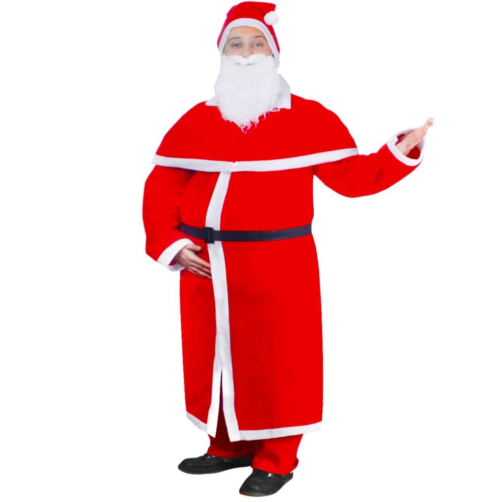 vidaXL Julenisse Julekostyme kappe-sett