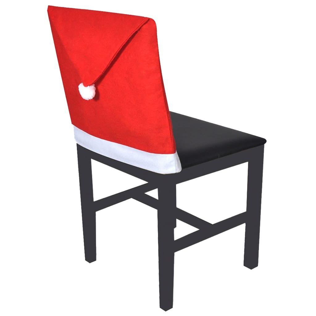 vidaXL Potahy na opěradla židle 6 ks čepice Santa Clause