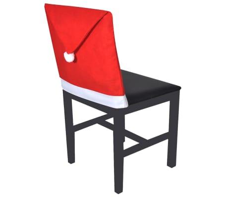 6 x Stuhlhussen Weihnachten Weihnachtsmütze Stuhlüberzug[2/3]