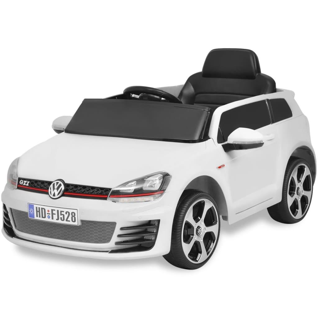 Vidaxl Ηλεκτροκίνητο Αυτοκίνητο VW Golf GTI 7 Λευκό Με Τηλεχειριστήριο