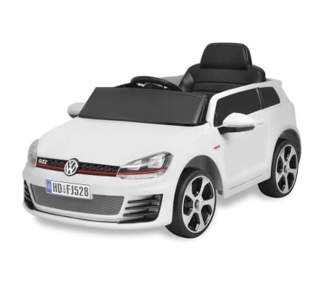 vidaXL Vaikiškas Automob. VW Golf GTI 7, Baltas, 12 V su Nuot. Valdymu[1/9]