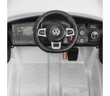vidaXL Vaikiškas Automob. VW Golf GTI 7, Baltas, 12 V su Nuot. Valdymu[5/9]