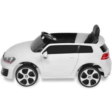 vidaXL Vaikiškas Automob. VW Golf GTI 7, Baltas, 12 V su Nuot. Valdymu[2/9]