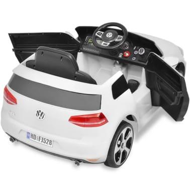 vidaXL Vaikiškas Automob. VW Golf GTI 7, Baltas, 12 V su Nuot. Valdymu[4/9]