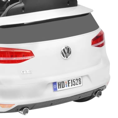 vidaXL Vaikiškas Automob. VW Golf GTI 7, Baltas, 12 V su Nuot. Valdymu[7/9]