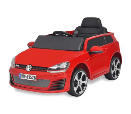kinderauto elektroauto vw golf gti 7 rot 12 v mit. Black Bedroom Furniture Sets. Home Design Ideas