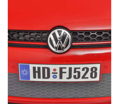 kinderauto elektroauto vw golf gti 7 rot 12 v mit fernbedienung zum schn ppchenpreis. Black Bedroom Furniture Sets. Home Design Ideas