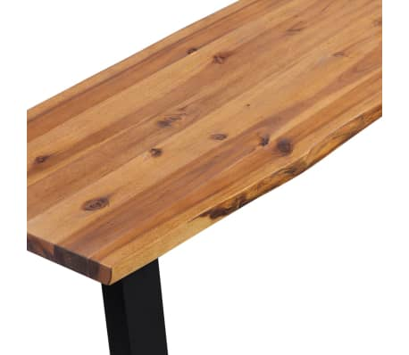"vidaXL Solid Acacia Wood Bench 63""[4/6]"