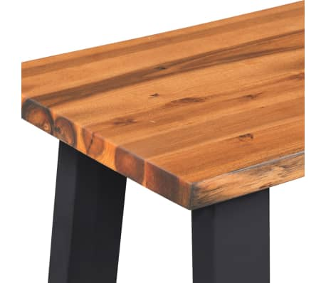 "vidaXL Solid Acacia Wood Bench 63""[5/6]"