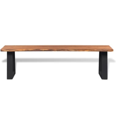 "vidaXL Solid Acacia Wood Bench 63""[2/6]"