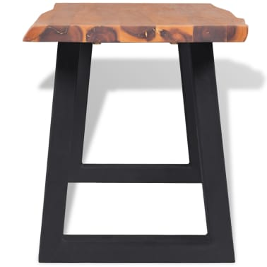 "vidaXL Solid Acacia Wood Bench 63""[3/6]"