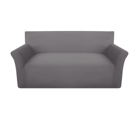 acheter vidaxl housse de canap en coton jersey extensible gris pas cher. Black Bedroom Furniture Sets. Home Design Ideas