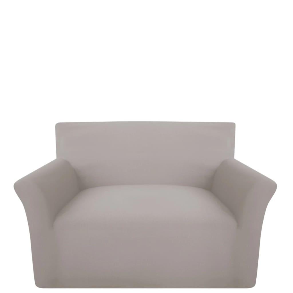 99131028 Sofahusse Sofabezug Stretchhusse Beige Baumwoll-Jersey
