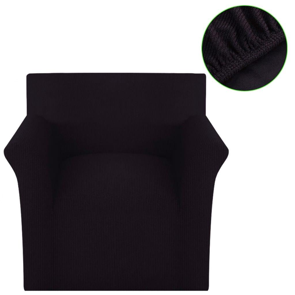 vidaXL Husă elastică pentru canapea, poliester textură striată, maro poza 2021 vidaXL
