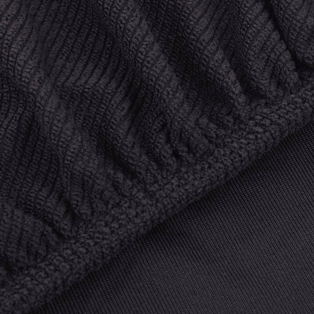 vidaXL Strečový potah na křeslo, hnědý polyester, žebrová pletenina