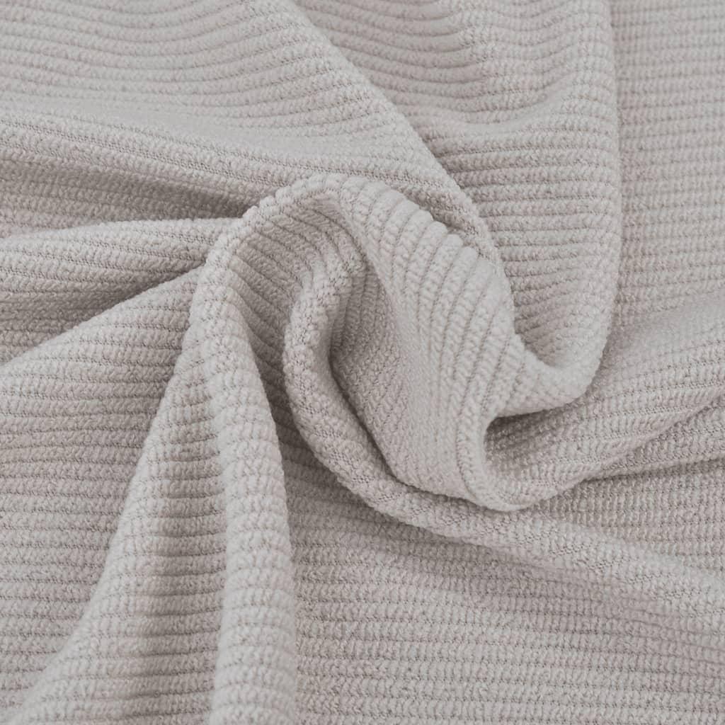 vidaXL Strečový potah na křeslo, béžový polyester, žebrová pletenina