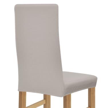 vidaXL Stolsöverdrag 6 st polyester stretch beige[3/5]