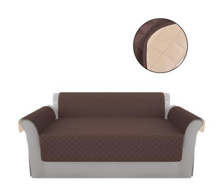 acheter vidaxl prot ge canap brun et beige microfibre pas. Black Bedroom Furniture Sets. Home Design Ideas