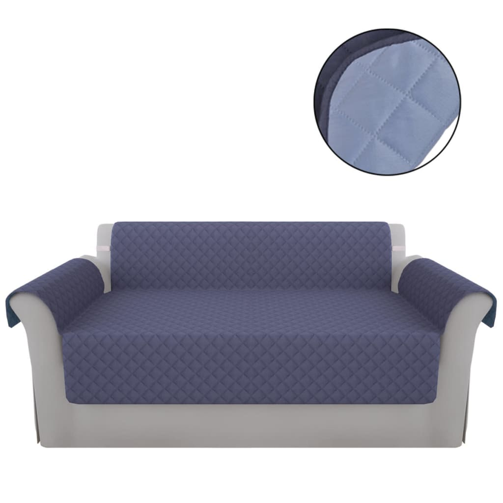vidaXL Chránič gauče modrá/světle modrá mikrovlákno