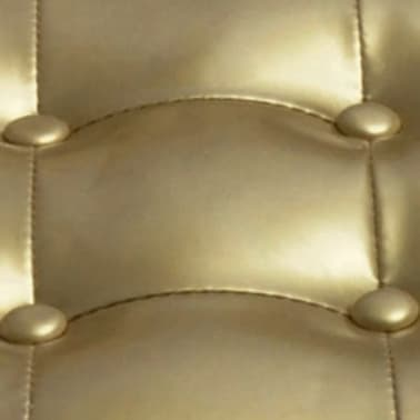 vidaXL Tub Chair with Footrest Gold Faux Leather[3/3]