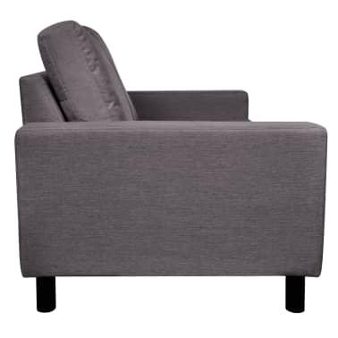 vidaXL Sofa 2-Seater Fabric Dark Gray[4/5]