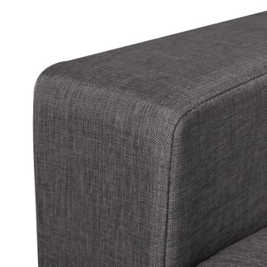 vidaXL Sofa 2-Seater Fabric Dark Gray[5/5]